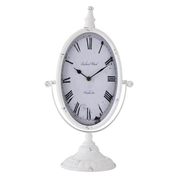 Mantel Clock - Antique White