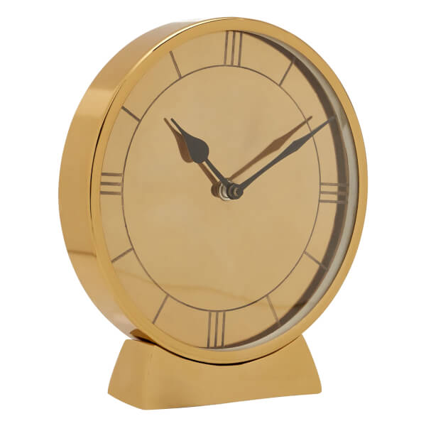 Round Table Clock - Gold
