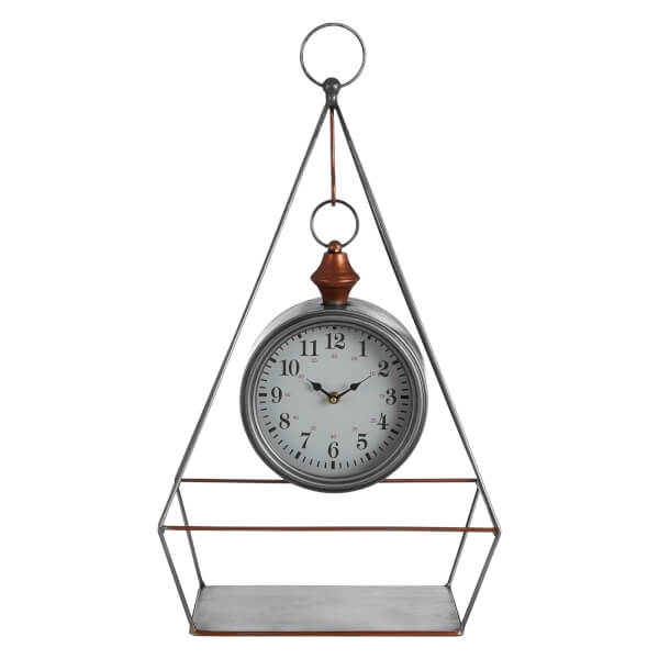 Hayden Table Clock - Antique Silver Finish
