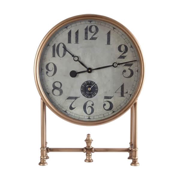 Hayden Table Clock - Gold Finish