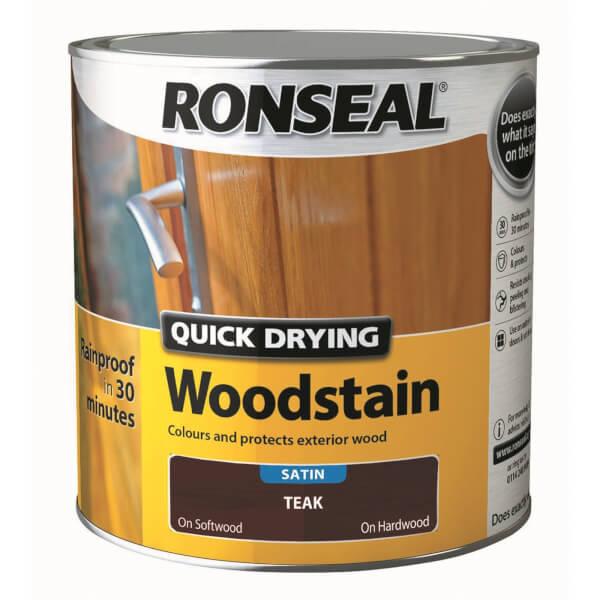 Ronseal Quick Drying Woodstain - Teak Satin 2.5L