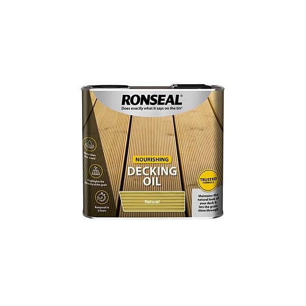Ronseal Decking Oil Natural 2.5L