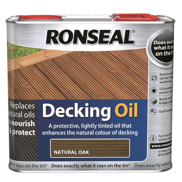 Ronseal Decking Oil Natural Oak 2.5L