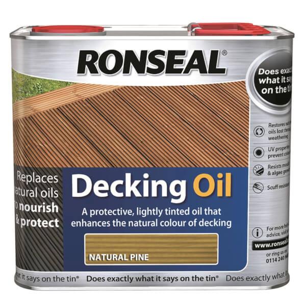 Ronseal Decking Oil Natural Pine 2.5L