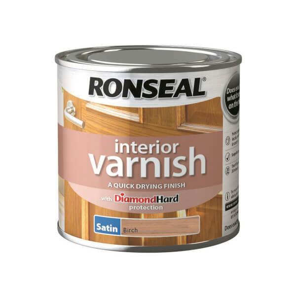 Ronseal Interior Varnish - Birch Satin 250ml