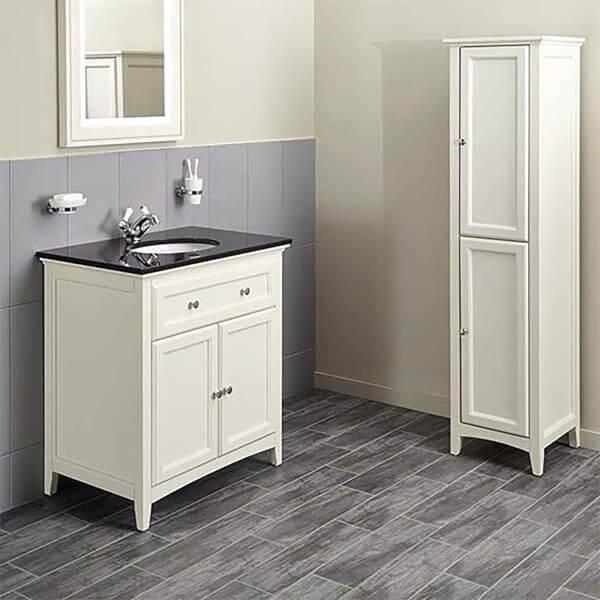 Bathstore Savoy 790mm Granite Top Floorstanding Vanity Unit