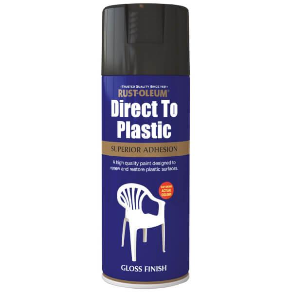 Rust-Oleum Direct to Plastic Spray Paint - Black - 400ml