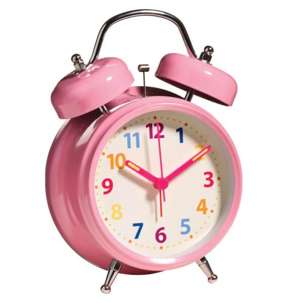 Twin Bell Alarm Clock - Pink