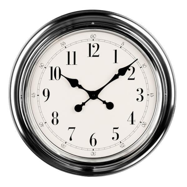 Wall Clock - Chrome Finish