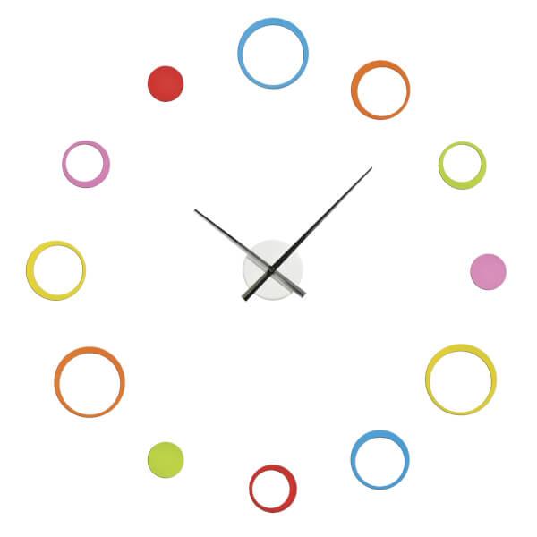 DIY Wall Clock - Multi-coloured Circles