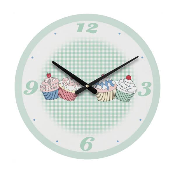 Cupcake Wall Clock - Green