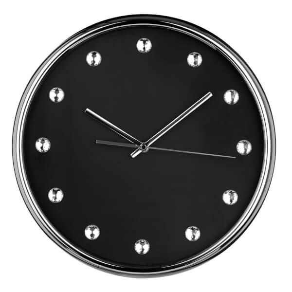 Diamante Wall Clock - Black