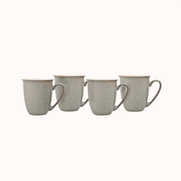 Elements 4 Piece Mug Set - Light Grey