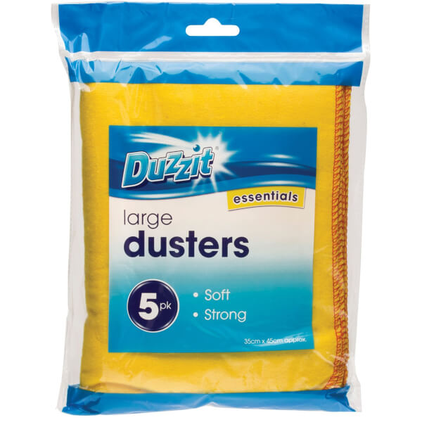 Duzzit Premium Yellow Dusters - Pack of 5