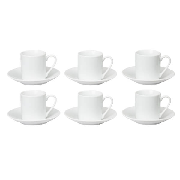 Espresso Cups & Saucers - Set of 6