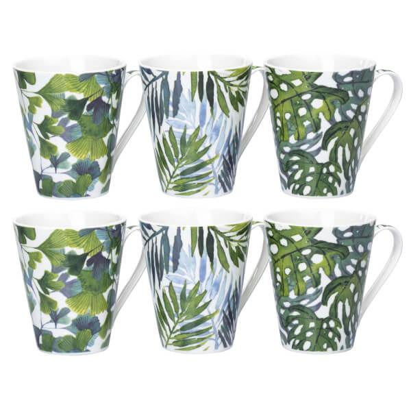 Leaf Mugs - Set of 6