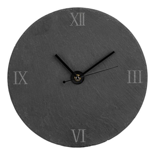 Slate Wall Clock - Grey
