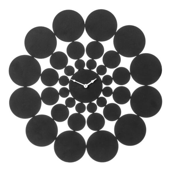 Black Disc Wall Clock