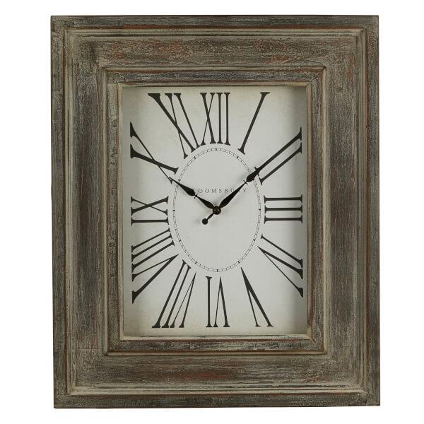 Square Wall Clock - Distressed Grey