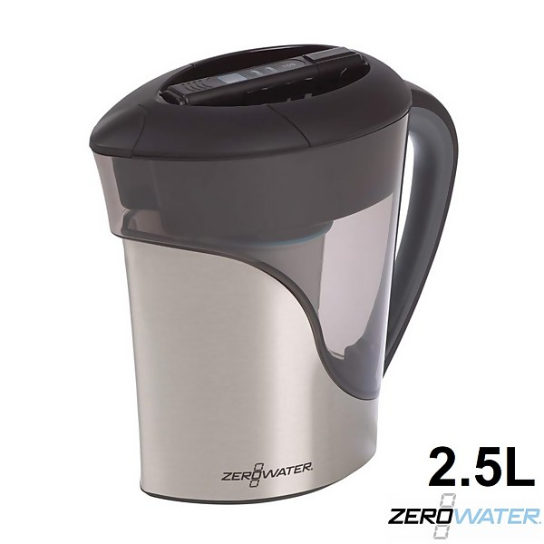 ZeroWater 11 Cup Stainless Steel Water Filter Jug - 2.6l