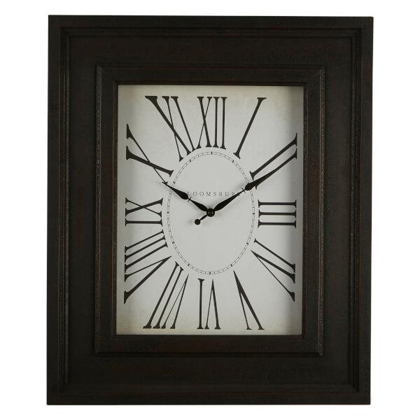 Square Wall Clock - Distressed Black