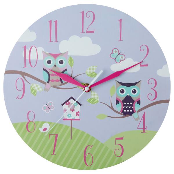 Kids Owl Wall Clock
