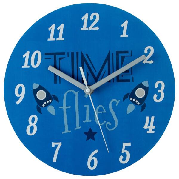 Kids Time Flies Wall Clock
