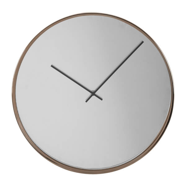 Baillie Wall Clock - Rose Gold & Mirrored