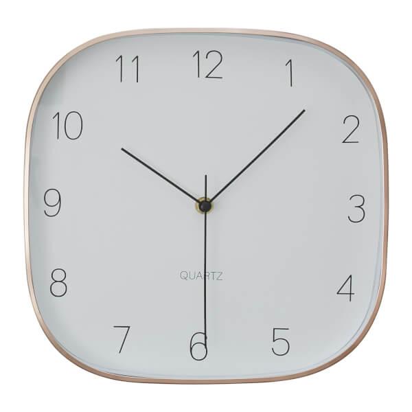 Elko Square Wall Clock - Copper
