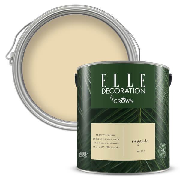 ELLE Decoration by Crown Flat Matt Paint - Organic 2.5L