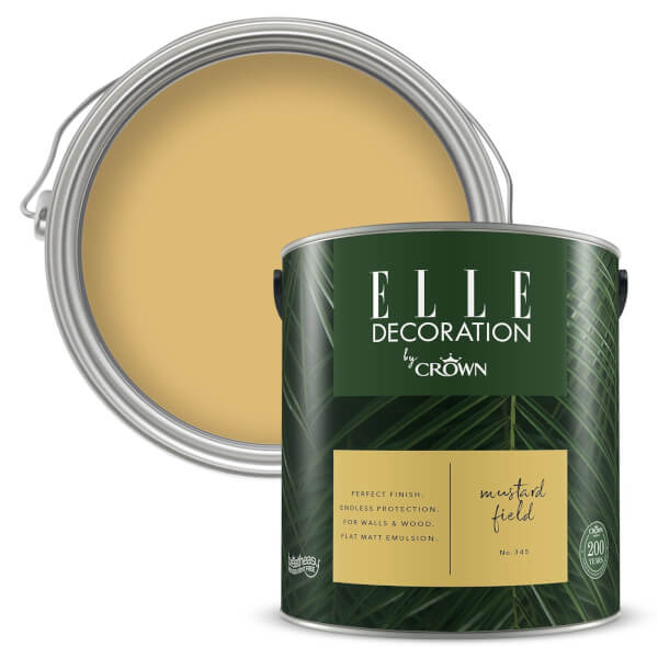 ELLE Decoration by Crown Flat Matt Paint - Mustard Field 2.5L