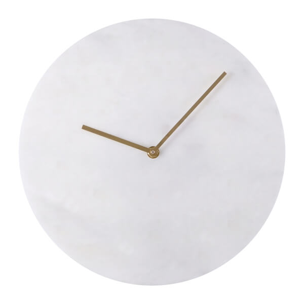 Lamonte Wall Clock - White Marble