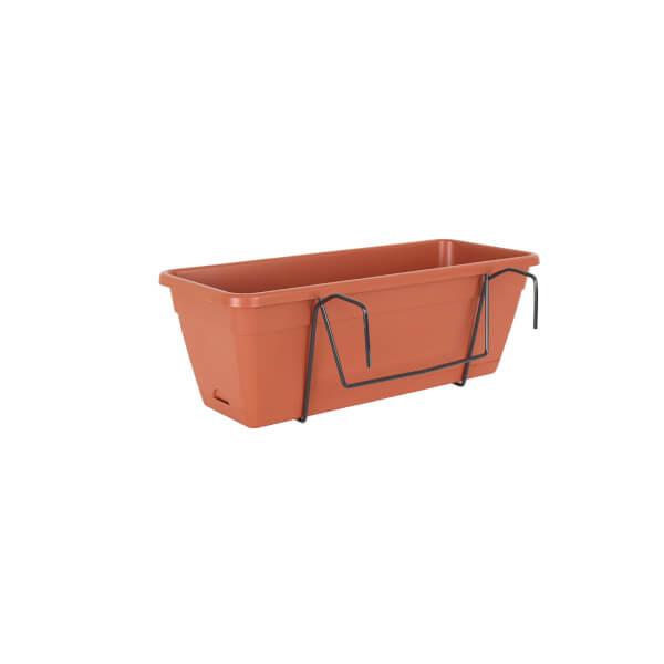 Balcony Trough Kit in Terracotta - 50cm