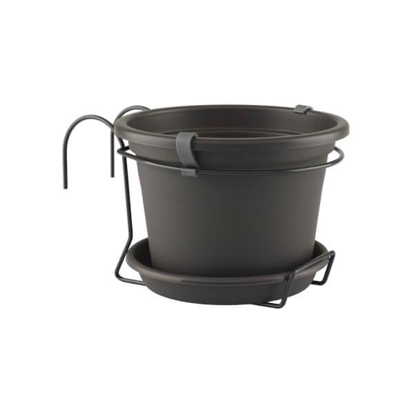Balcony Pot Kit in Anthracite - 20cm