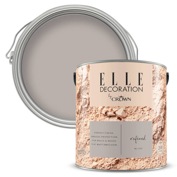 ELLE Decoration by Crown Flat Matt Paint - Refined 2.5L
