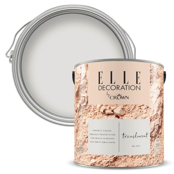 ELLE Decoration by Crown Flat Matt Paint - Translucent 2.5L