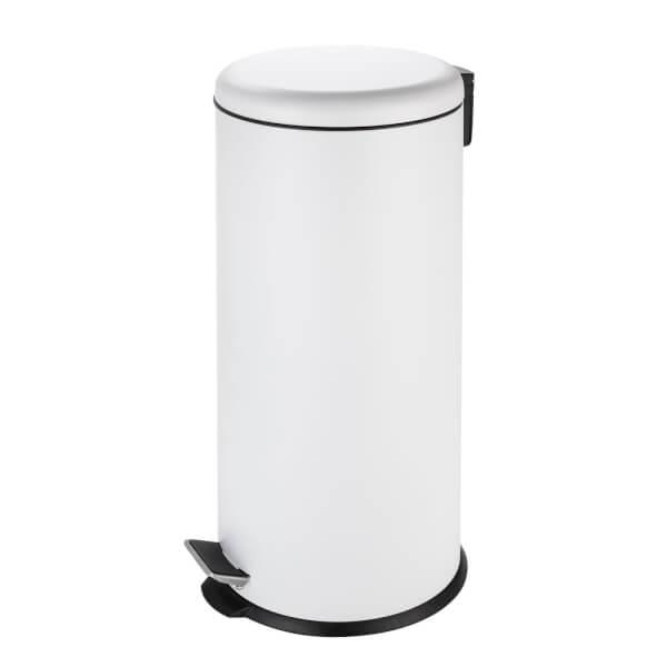 Soft Closing Pedal Bin - White - 30L