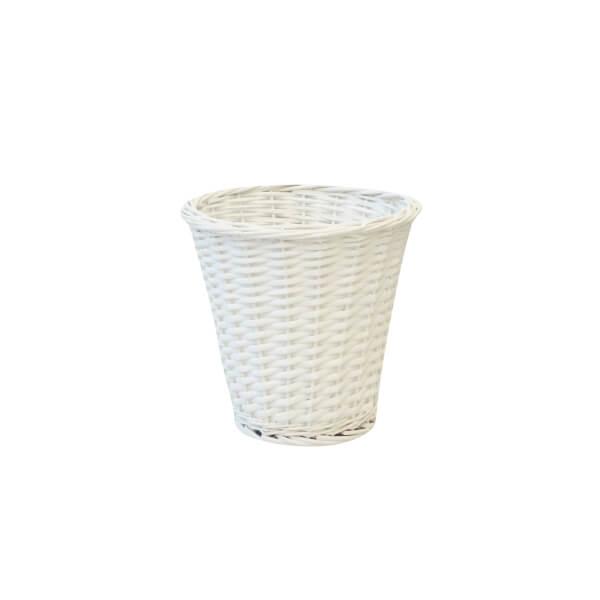 Willow Waste Paper Bin - White - 6L
