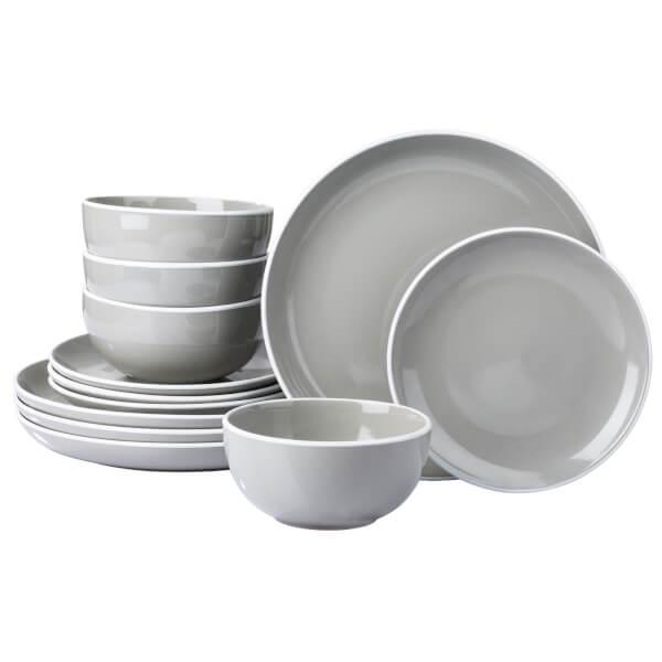 Halo 12 Piece Dinner Set - Grey