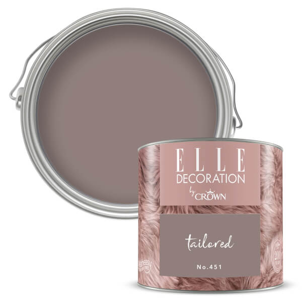 ELLE Decoration by Crown Flat Matt Paint - Tailored 125ml