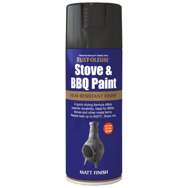 Rust-Oleum Black - Stove and BBQ Spray Paint - 400ml