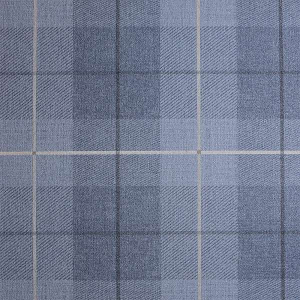 Arthouse Country Tartan Textured Denim Blue Wallpaper
