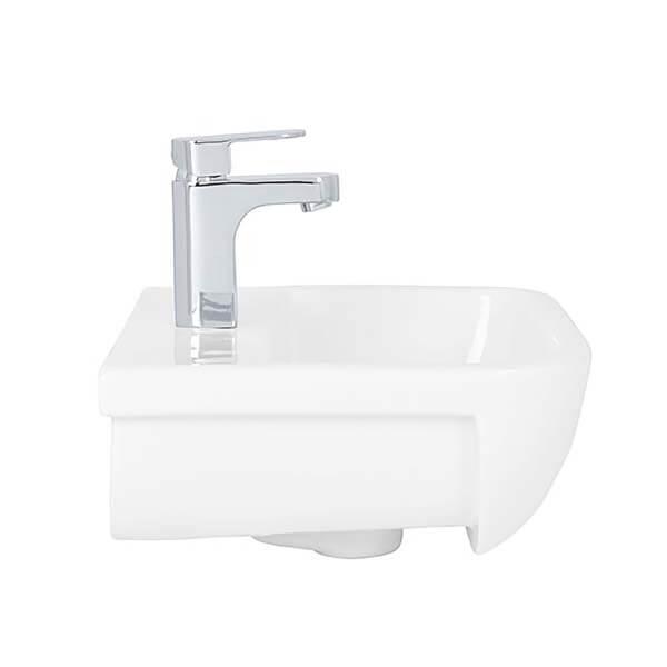Bathstore Cedar 420mm Semi Recessed Basin