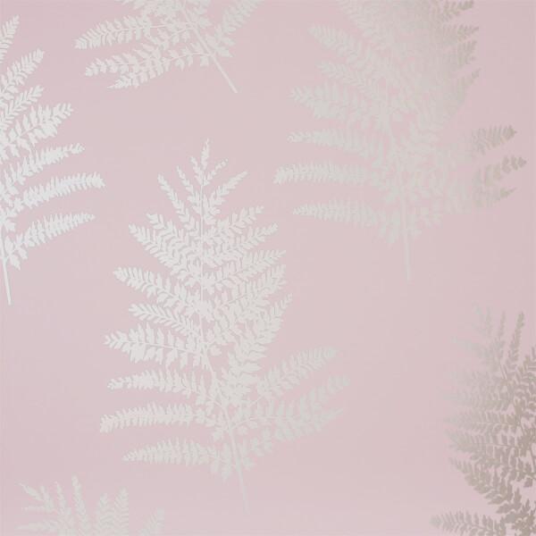 Arthouse Opera Fern Tree Smooth Metallic Blush Pink Wallpaper