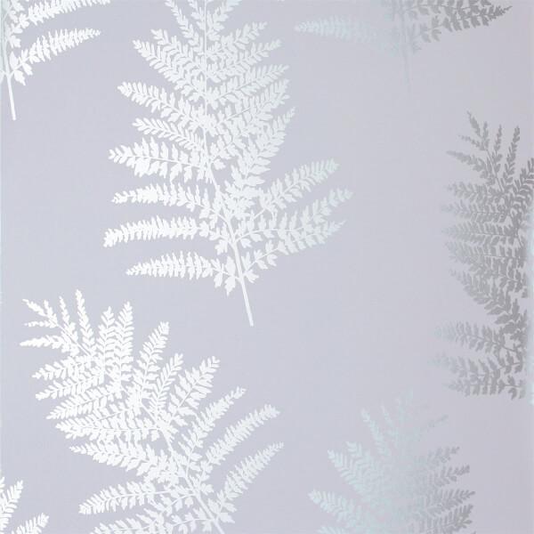 Arthouse Opera Fern Tree Smooth Metallic Silver Wallpaper
