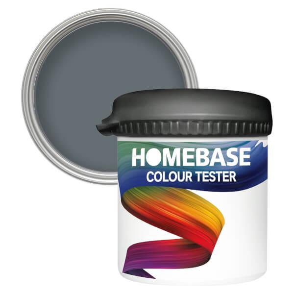 Homebase Matt Colour Paint Tester - Thunder 90ml