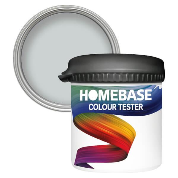 Homebase Matt Colour Paint Tester - Silver Cloud 90ml
