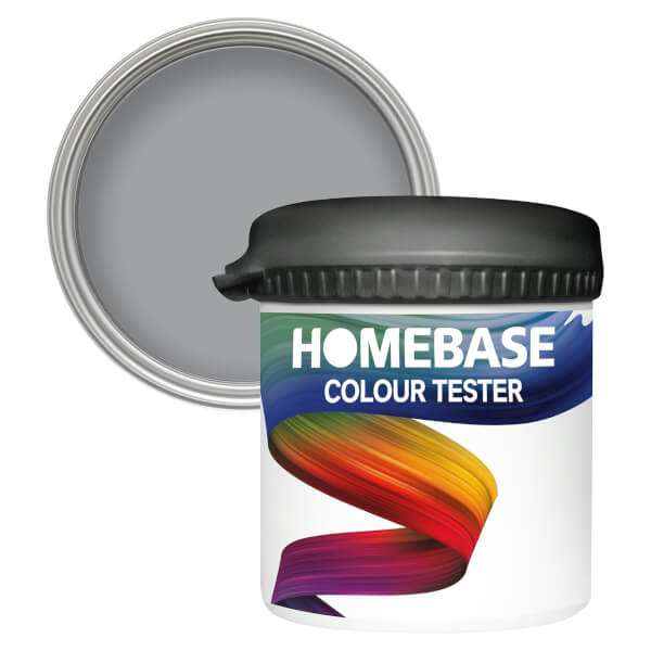 Homebase Matt Colour Paint Tester - Flintstone 90ml