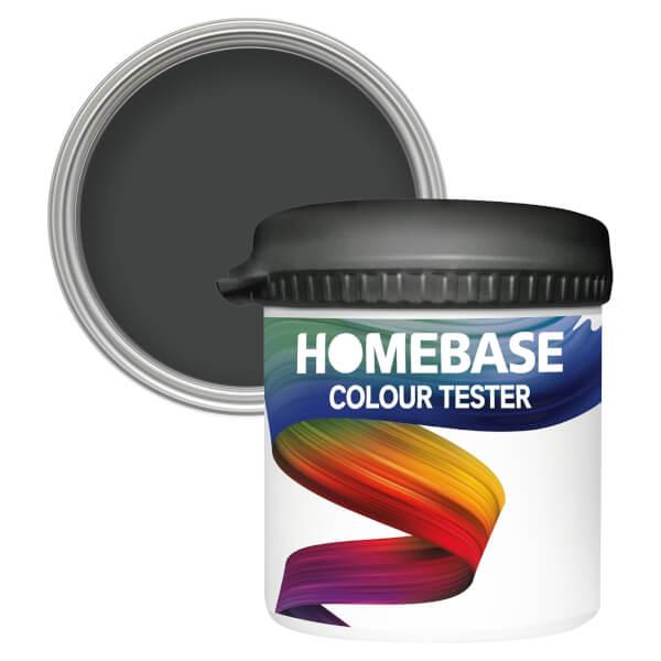 Homebase Matt Colour Paint Tester - Zebra Black 90ml