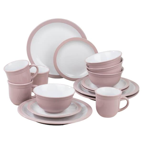 Camden 16 Piece Dinner Set - Pink